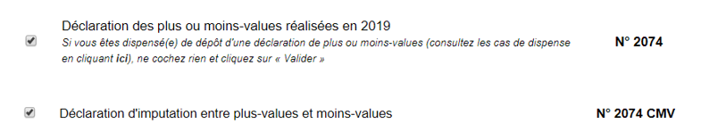 declaration impots plus values bourse 2074 1